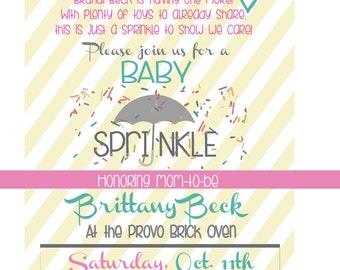 Custom Baby Sprinkle Invitation