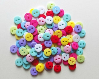 40 Multicolor Little Round  Buttons - #R-00040