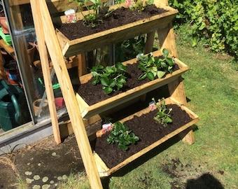 3 tier strawberry/herb trough