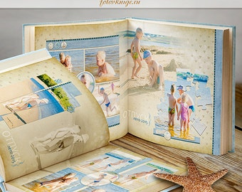 PHOTOBOOK - photo books in the scrapbooking stale - Photoshop Templates for Photographers. 12x12 Photo Book/Album Template