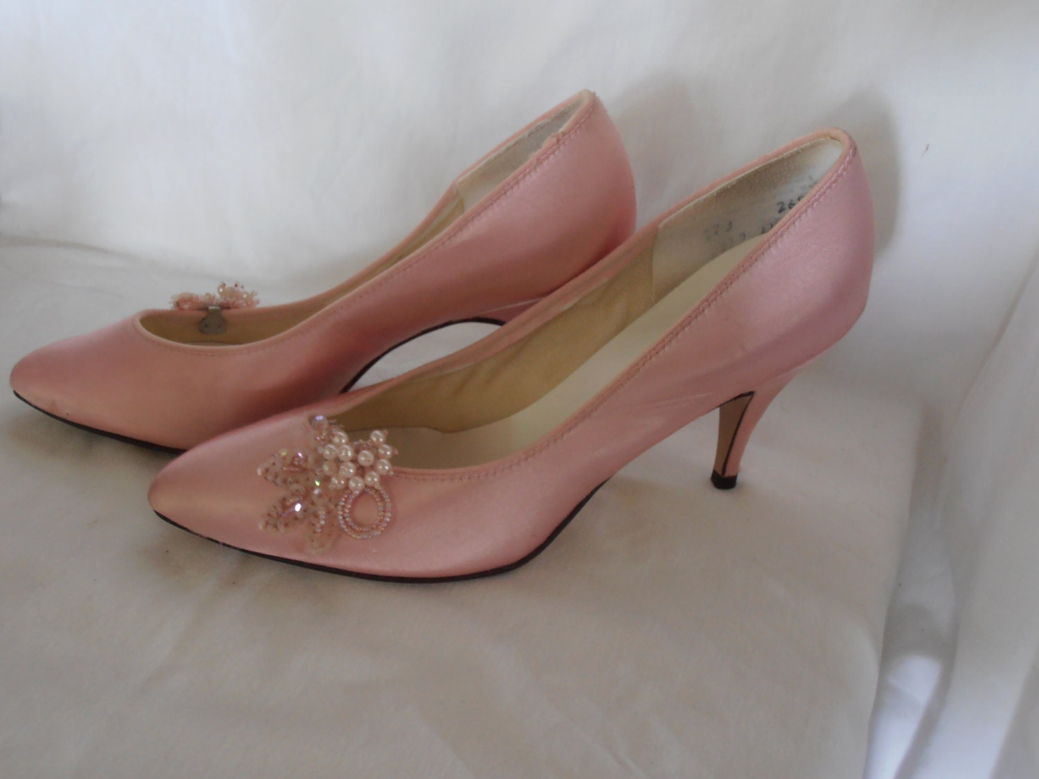pink shoes high heels fancy shoes size 7 8 by
