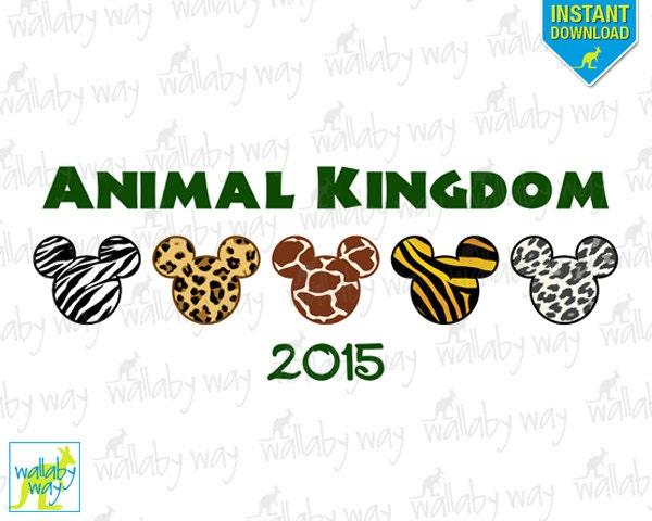 Animal Kingdom Printable Iron On Transfer or Use as Clip Art