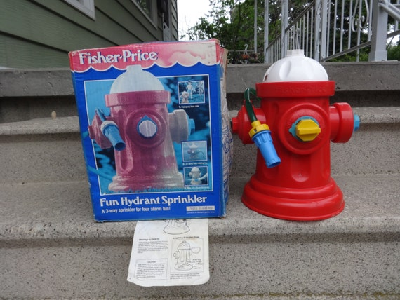 Fisher Price Fire Hydrant Sprinkler by Niagara2you on Etsy