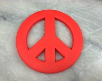 Peace Sign Cookie Cutter Detailed - SHARP EDGES - FAST Shipping - Choose Your Own Size!