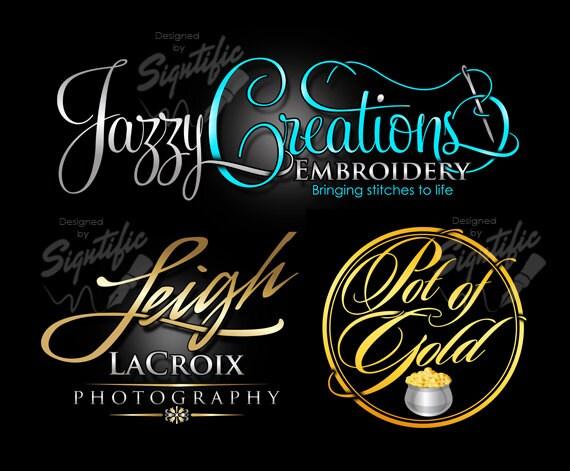 Logo design, logos, custom logo, business logo in any colors, signature text logo, cursive logo lettering, calligraphy logo, product label