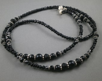 """Cute Beaded lanyard necklace with bead chain 28"""" to 40"""" long ID badge ,key card ,key or eyeglasses ring or holder , cute and unique strap"""