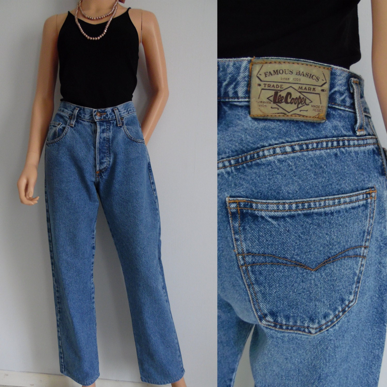 lee cooper blau vintage jeans hose 80er jahre retro hoch. Black Bedroom Furniture Sets. Home Design Ideas
