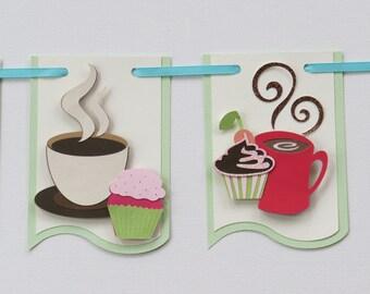 Cupcake banner- coffee banner