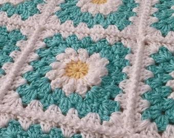 Handmade Daisy Blanket