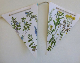 Floral Paper Bunting Multi Coloured