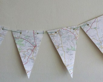 OS Paper Bunting Cheltenham & Cirencester