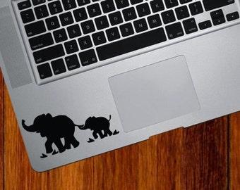 Elephants vinyl sticker for Mac Book/Air/Retina laptops
