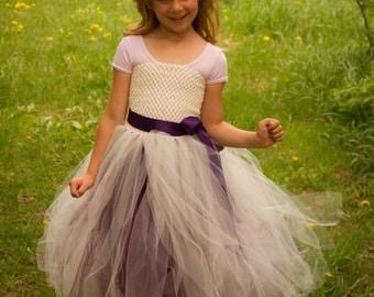 Tulle Flower Girl Tutu Dress