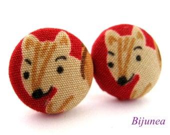 Squirrel earrings - Squirrel animal stud earrings - Squirrel  posts - Squirrel studs - Squirrel post earrings sf932