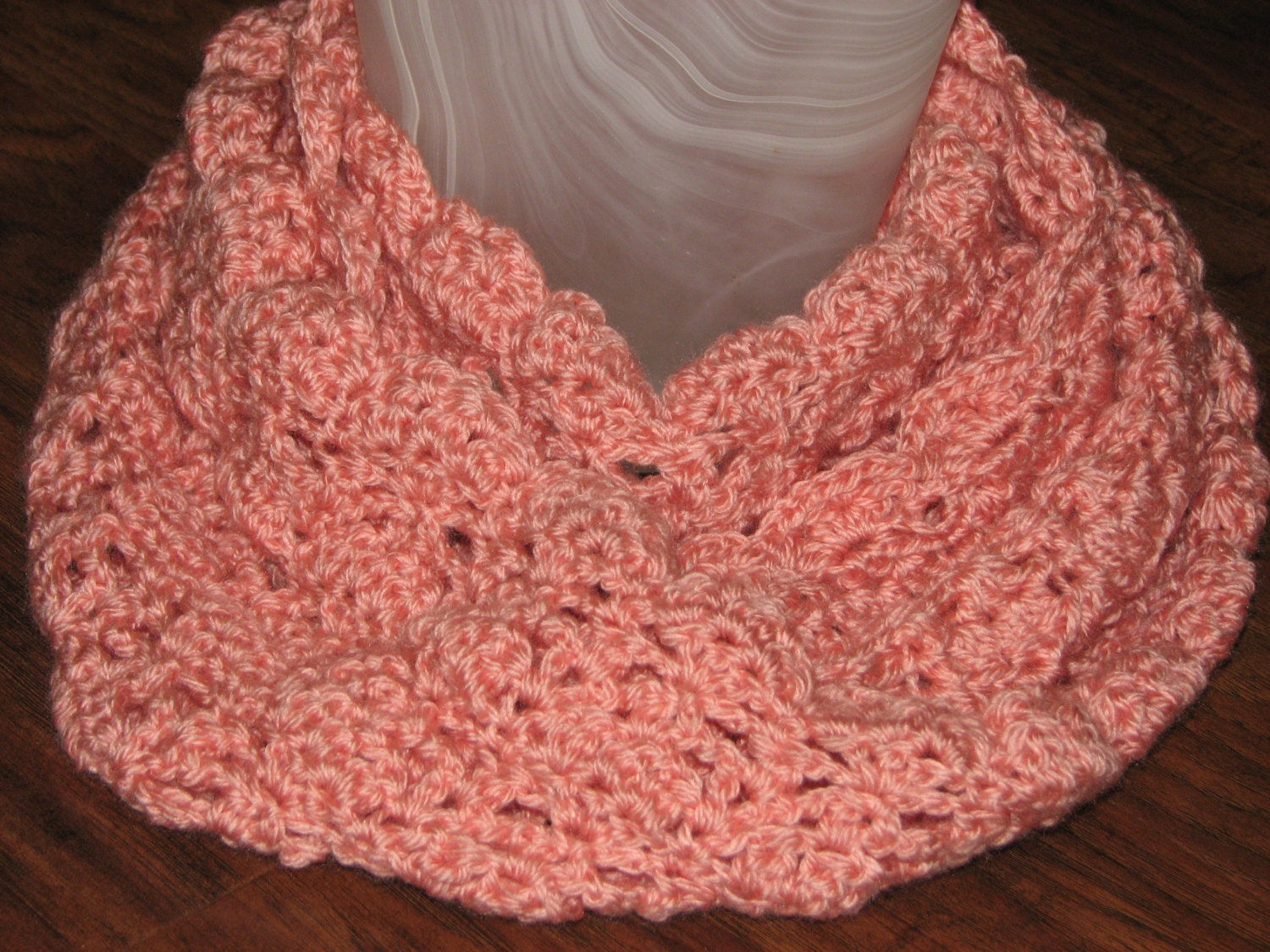 Crochet Pattern For Lacy Infinity Scarf : CROCHET PATTERN Lace Infinity Scarf / Crochet Lacy Scarf