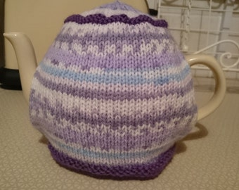 Fair Isle Effect lined tea cosy
