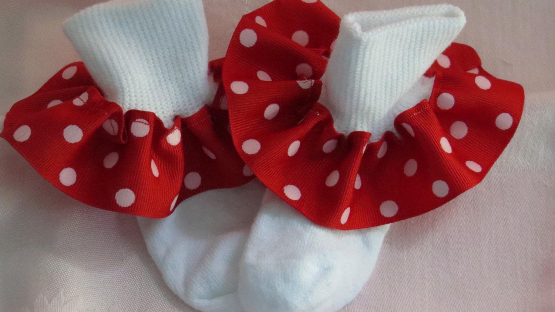 NEW COLORS Ribbon Ruffle Socks Baby Socks by MelindasDesigns Ruffled Socks