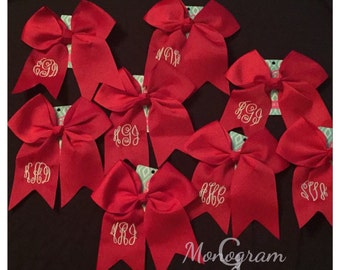 Monogram Hair Bow/ Monogram Cheer Bow/ Personalized Bow/ Monogram Team Bow