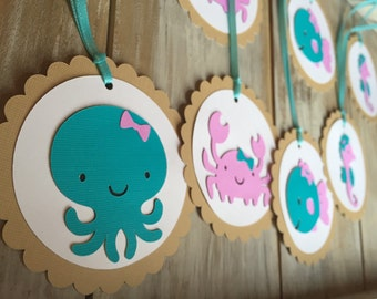 Under the Sea Tags | Under the Sea Birthday | Favor Tags | Under the Sea Party | Beach Birthday | Under the Sea Favor Tags | Sea Decorations