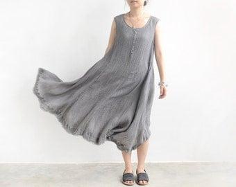 Textured gray tank dress BonLife
