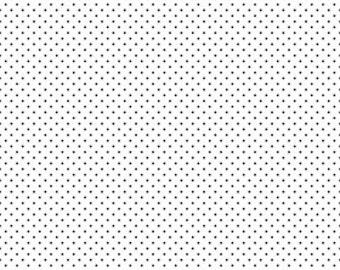Half Yard Swiss Dot On White with Black