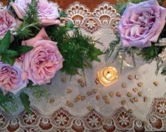Wood Heart Confetti 50 Pieces - Rustic Wedding Decor.