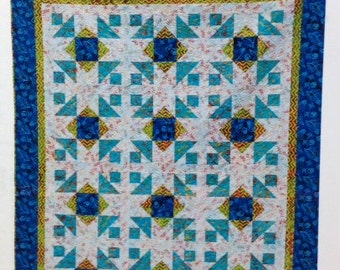 "Pat Sloan LITTLE WISHES pieced quilt pattern 78"" x 98"" lap, crib or other sizes"