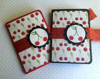 Cherry Gift Card Holders - Black and Red, Cherry, Rockabilly Style! Perfect for any occasion!