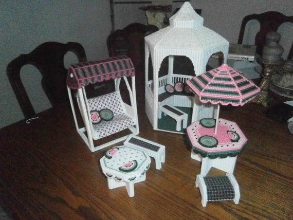 Barbie Furniture Barbie Gazebo Set Doll By Alwaysprettyinpink