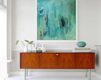 wall art from my  painting  green , abstract painting,  jolina anthony