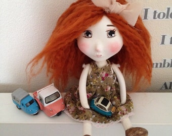 Nancy Paperclay Art Doll