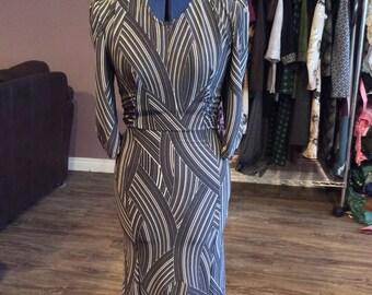 3/4 sleeve 50's inspired dress