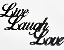 Live Laugh Love Metal Wall Sign