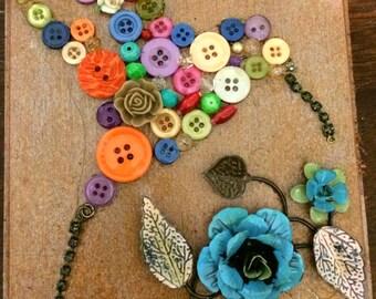 Button Hummingbird Mosaic