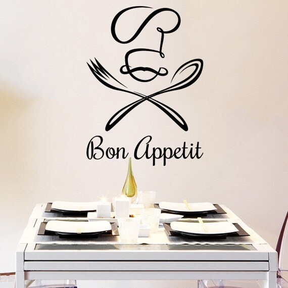 wall decal vinyl sticker decals chef hat bon by