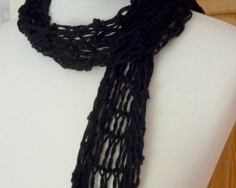 Black Summer lace scarf