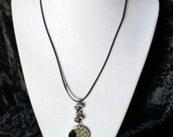 Black n Silver Pendant