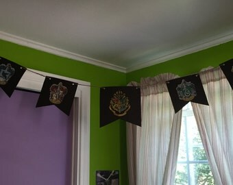 Harry Potter Banner hogwarts houses