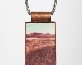 Pendant medium photo (2, 5cm X 4 cm) copper