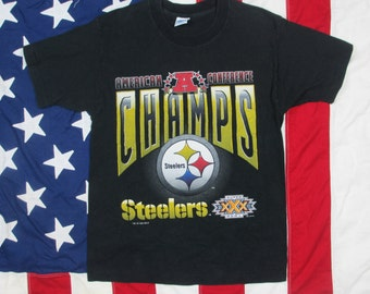 Vintage Pittsburgh Steelers AFC Champs T-Shirt Medium