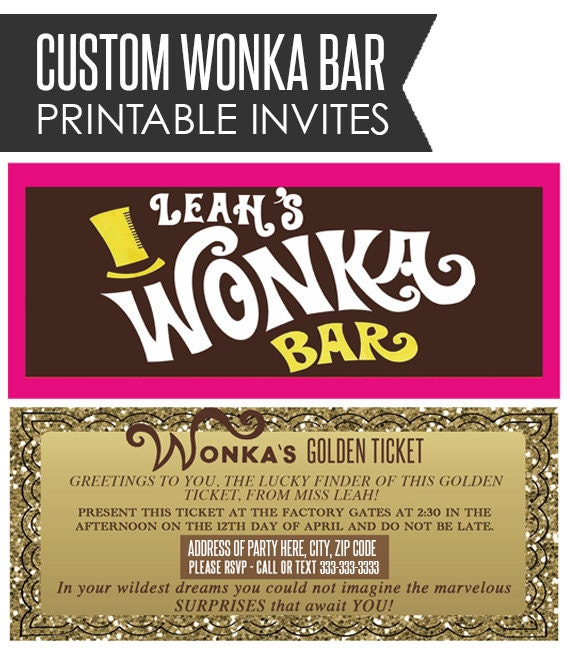 Critical image for printable wonka bar wrapper