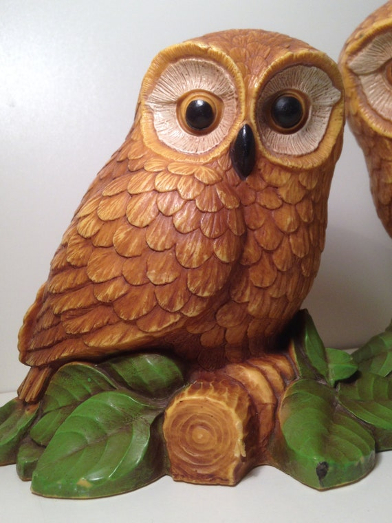 Hoot Owl Barn Owl Large Owl Statues Home Decor By Lonestarlucy