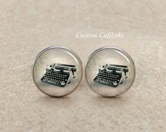 Cufflinks, Typewriter Professionally Working Typewriter, Typewriter Cufflinks, typewriter Writer Gift, Printer cufflinks,mens cufflinks