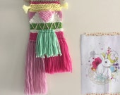 Woven Wall Hanging | Weave | Kids Decor | Fibre Art | Tapestry | Textile | Brights