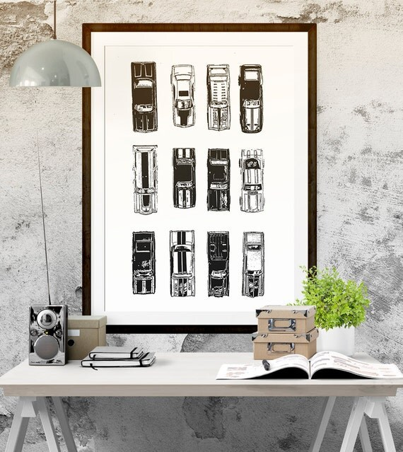 hot wheels inspired decor instant download boys room art printable