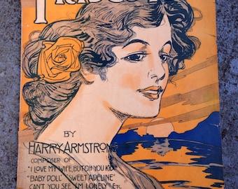 Original Frisco Rag Sheet Music Vintage 1909