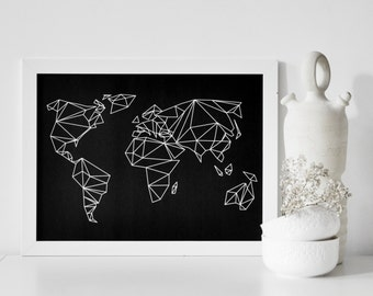 A3 print geometrical world black
