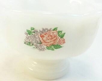 SALE Vintage Avon milk glass soap dish