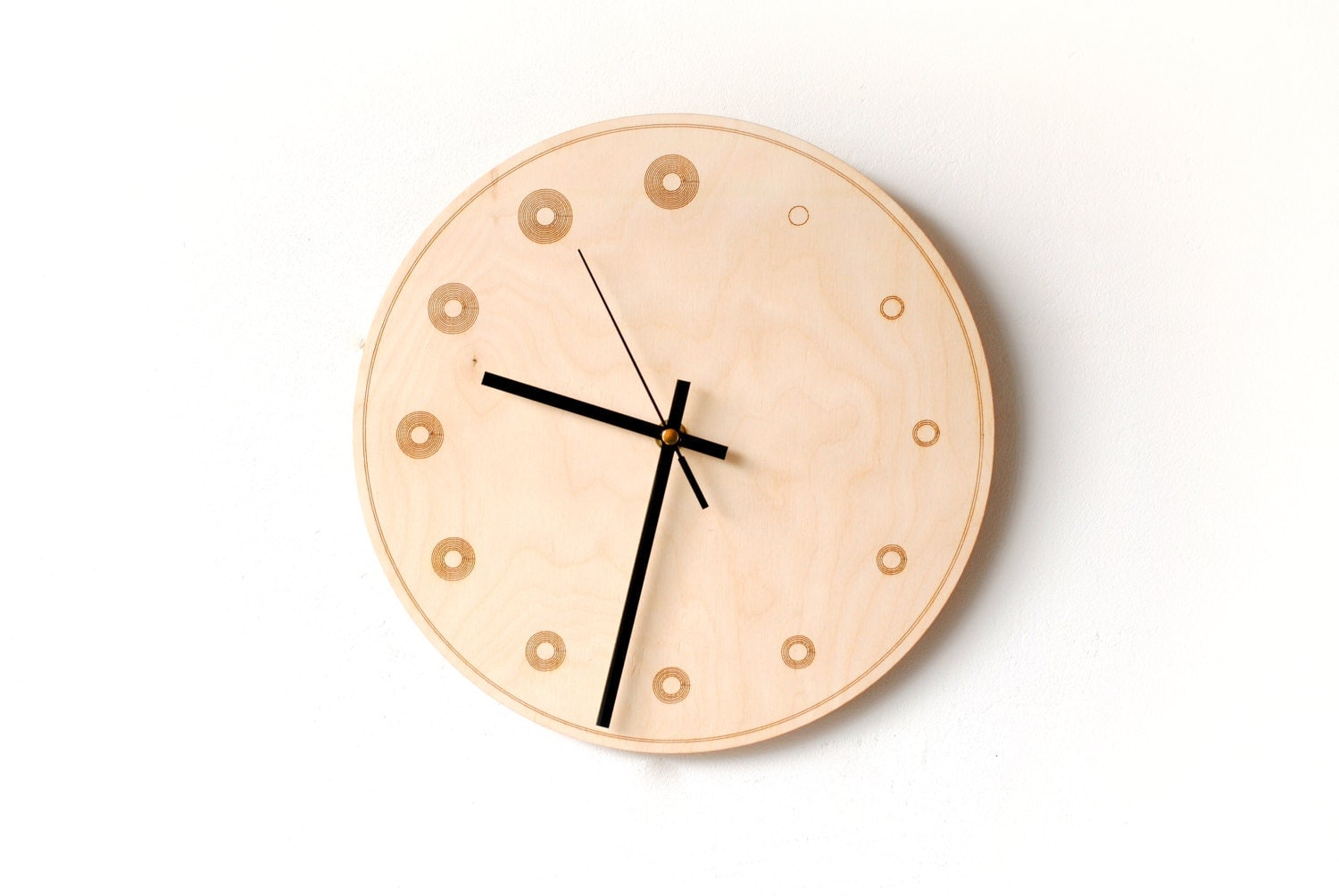 Wood Wall Clock Modern Wooden Clock Natural By