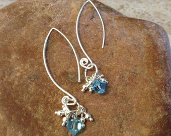 Sterling Silver and Swarovski Crystal Earrings!